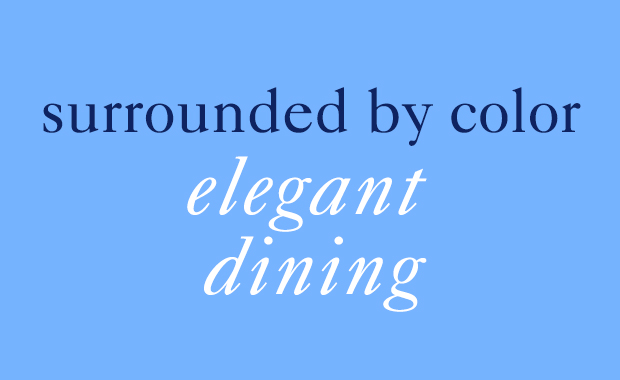 color elegant dining