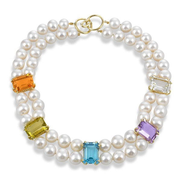 stone and pearl necklace gift ideas for women