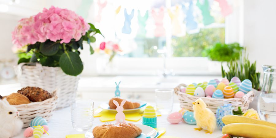 Decorating for Easter with Bunnies