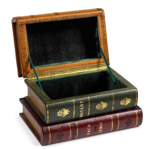 Leather Books Spines Box