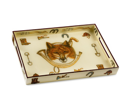 Fox & Horn Lacquered Tray