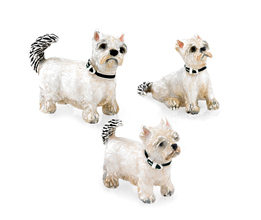 Sterling Silver Westie Family