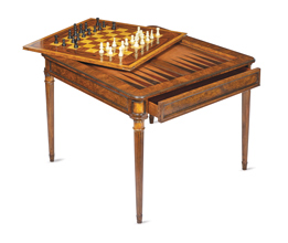 Amazing Walnut U0026 Rosewood Game Table