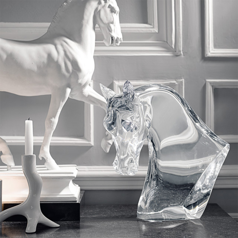 Lalique Horse's Head Sculpture
