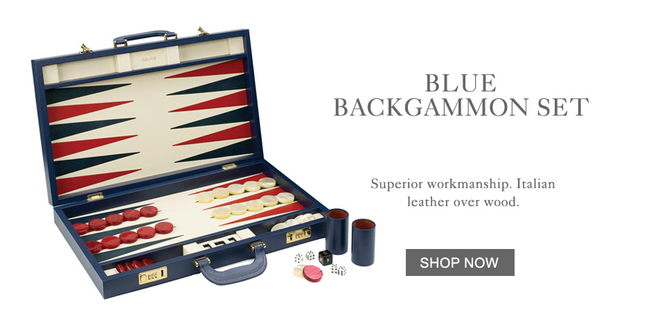 Blue Backgammon Set