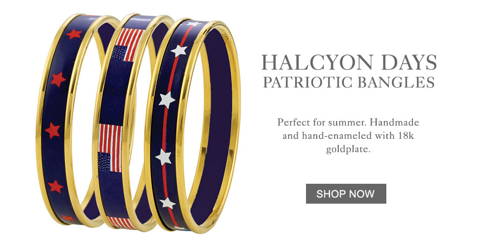 Halcyon Days Patriotic Bangles