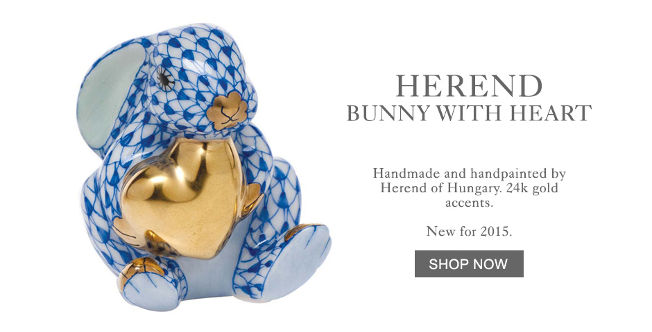 Herend Bunny with Heart