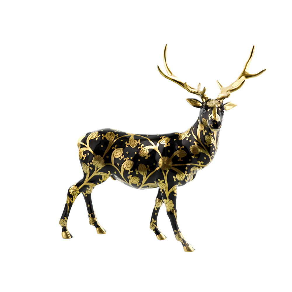 Herend Reserve Elk, Black & Gold