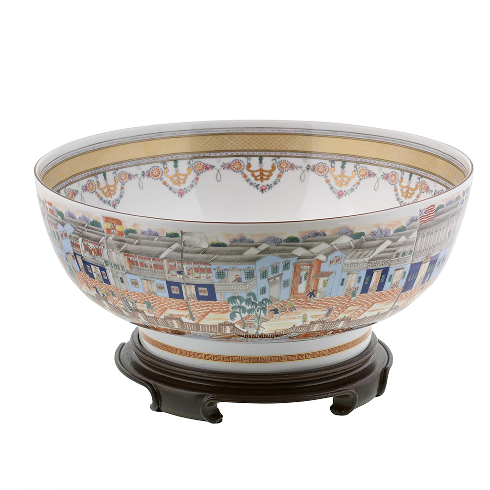 Mottahedeh Hong Bowl with Stand