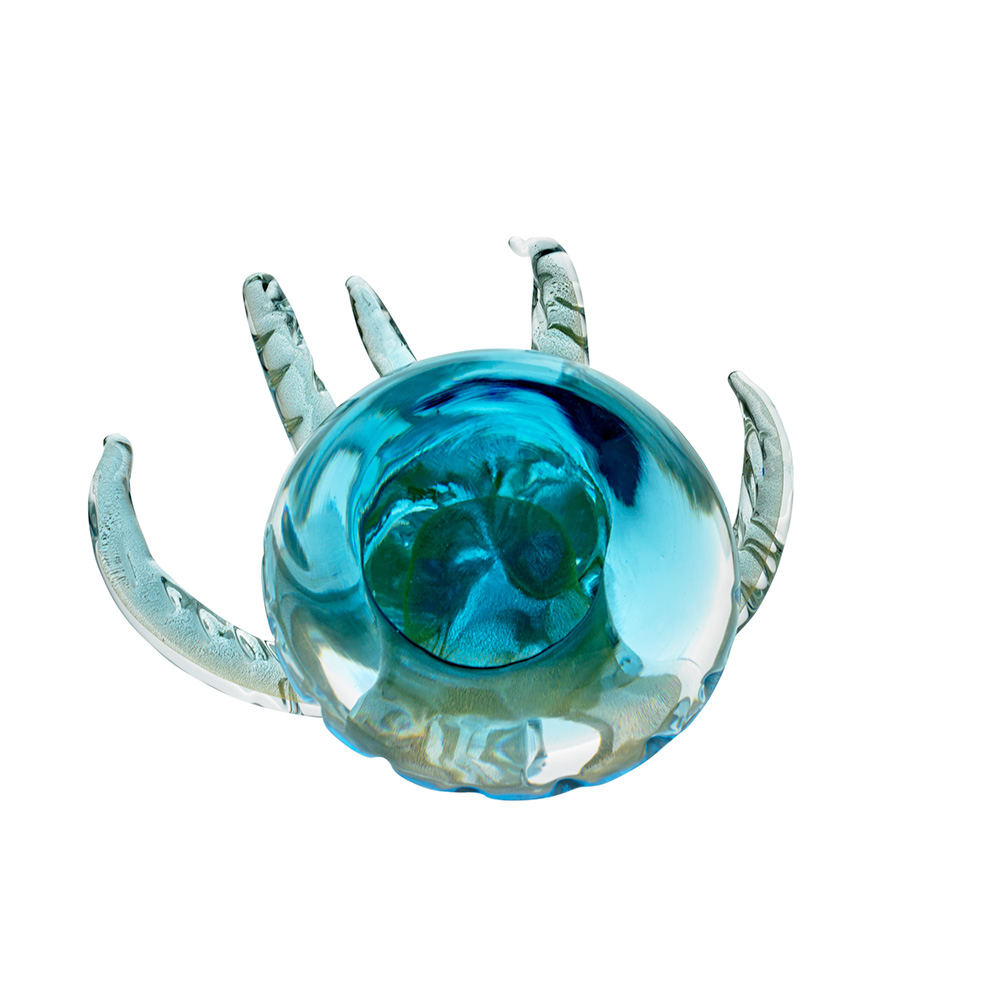 Crystal Aquamarine Jellyfish Sculpture