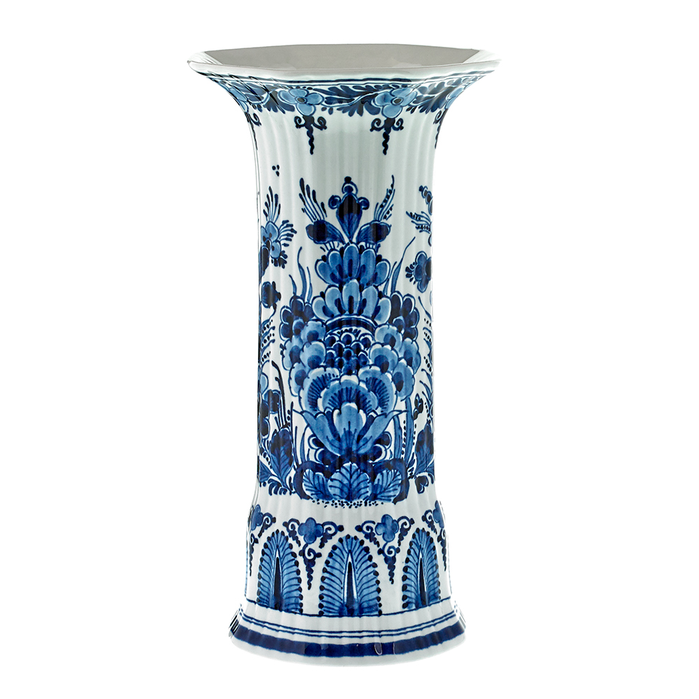 Blue Royal Delft Handpainted Tall Vase
