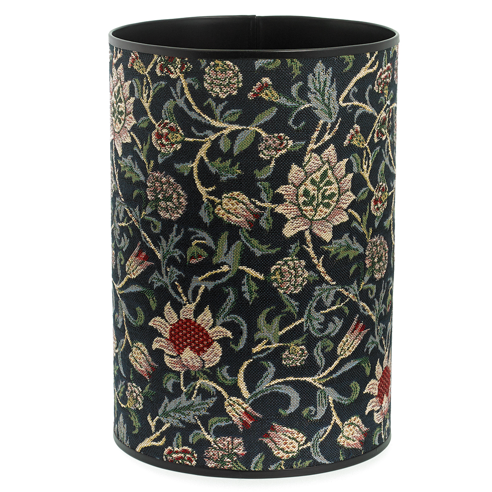 Evenlode Tapestry Wastebasket, Blue