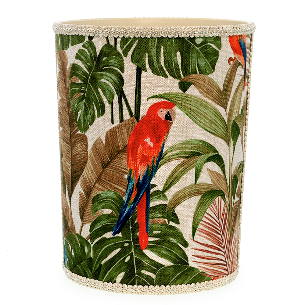 Home Decor Accessories Wastebaskets Red Parrot Wastebasket Drag To Spin