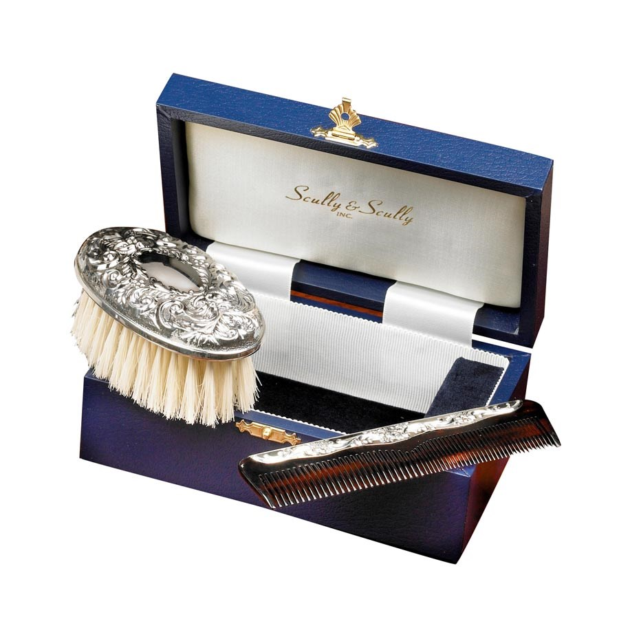 Sterling Silver Boy S Brush Amp Comb Set Silver Baby Gifts