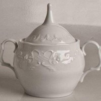 Anna Weatherley Simply Anna White Covered Sugar Bowl