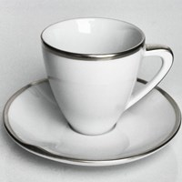 Anna Weatherley Simply Elegant Platinum Expresso Cup & Saucer