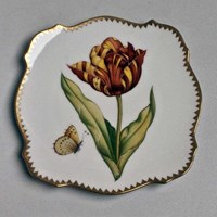 Anna Weatherley Studio Canape Plate, Red/Yellow Tulip