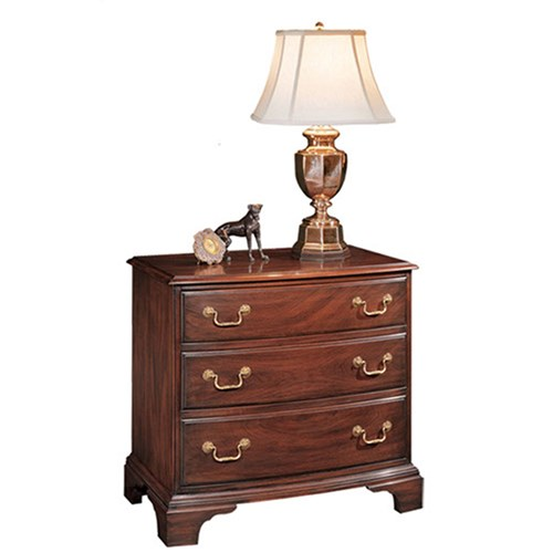 Mahogany Bowfront Graduated Chest