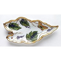 Anna Weatherley Wildberry Lavender Leaf Dish