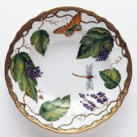 Anna Weatherley Wildberry Lavender Rim Soup Bowl