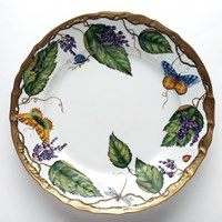 Anna Weatherley Wildberry Lavender Charger / Presentation Plate