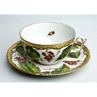 Anna Weatherley Wildberry Red Tea Cup & Saucer