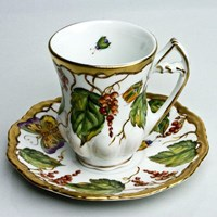 Anna Weatherley Wildberry Red Demitasse Cup & Saucer