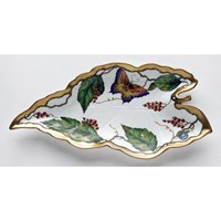 Anna Weatherley Wildberry Red Leaf Dish