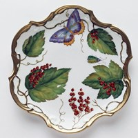 Anna Weatherley Wildberry Red Flat Dessert Plate