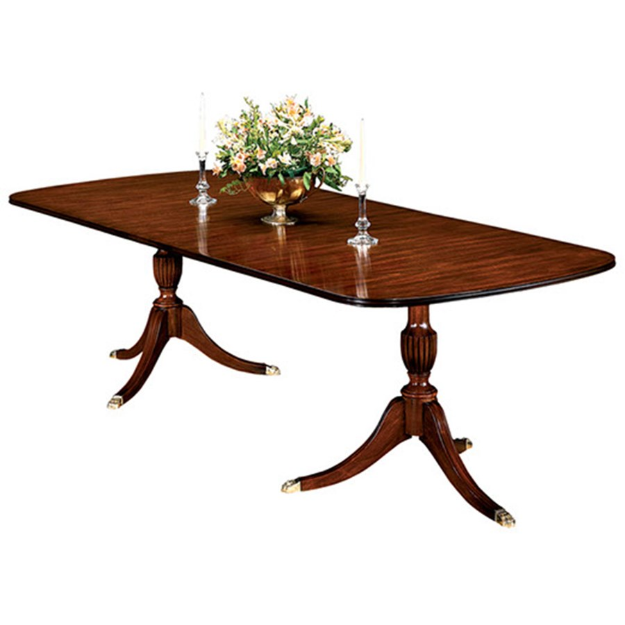 Double Pedestal Mahogany Dining Table