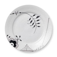 Royal Copenhagen Black Fluted Mega Plate, Medium