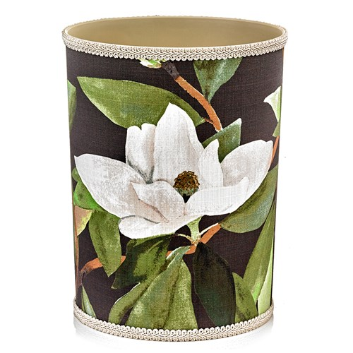 Magnolia Green Wastebasket & Tissue Box Cover
