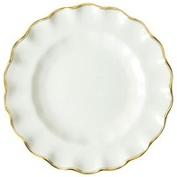 Royal Crown Derby Chelsea Duet Fluted Dessert Plate