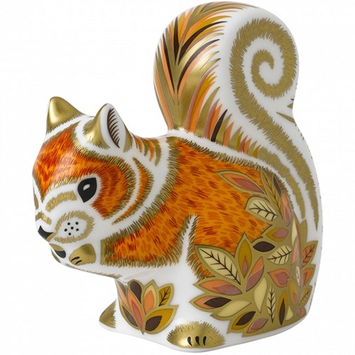Royal Crown Derby Autumn Squirrel Paperweight