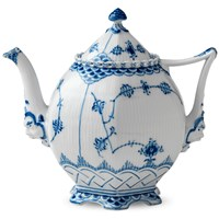 Royal Copenhagen Blue Fluted Full Lace Teapot