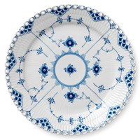 Royal Copenhagen Blue Fluted Full Lace Plate