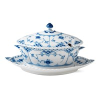 Royal Copenhagen Blue Fluted Full Lace Sauce Bowl