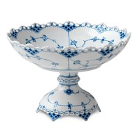 Royal Copenhagen Blue Fluted Full Lace Dish on Stand