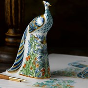 Royal Crown Derby Manor Peacock Paperweight
