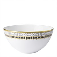 Royal Crown Derby Oscillate Onyx Coupe Soup Bowl