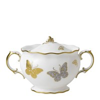 Royal Crown Derby Royal Butterfly Covered Sugar Bowl