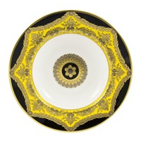 Royal Crown Derby Amber Palace Rim Soup Bowl