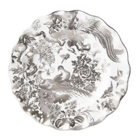 Royal Crown Derby Aves Platinum Fluted Dessert Plate