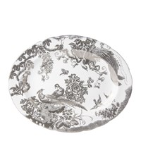 Royal Crown Derby Aves Platinum Oval Platter