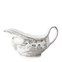 Royal Crown Derby Aves Platinum Sauce Boat