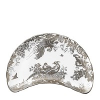 Royal Crown Derby Aves Platinum Crescent Salad Plate