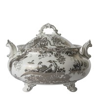 Royal Crown Derby Aves Platinum Soup Tureen & Cover