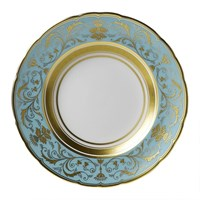 Royal Crown Derby Regency Turquoise Bread & Butter Plate