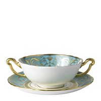 Regency Turquoise Cream Soup Cup