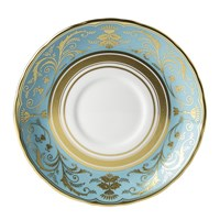 Regency Turquoise Cream Soup Saucer